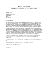 Cover Letter Manager New Financial Application Help Finance