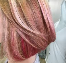 Different Shades Of Pink With Blonde