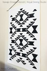 navajo designs patterns. Navajo Wall Art Craft Project Using Paint And Western Stencils - Royal Design Studio Designs Patterns