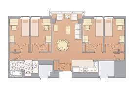 Typical Apartmentstyle Floor Plan Hostel Ideas Pinterest Extraordinary Apartments Floor Plans Design Style