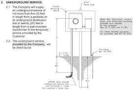 add temporary line nipsco Underground Electrical Transformers Diagrams proposed meter location Underground Electrical Distribution Power Lines