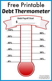 Free Printable Debt Thermometer