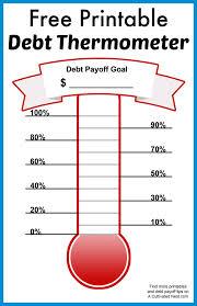 Free Printable Debt Free Charts Free Printable Debt Thermometer