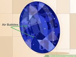 What Do You Call A Fake Chart Answers 4 Ways To Determine If A Sapphire Is Real Wikihow