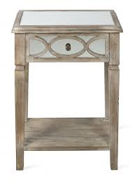 mirrored side table. Lattice Mirrored Side Table; Table O