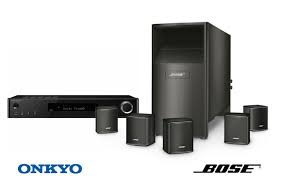 onkyo wireless speakers. package offer includes onkyo tx-l50 5.1-channel network a/v receiver and bose acoustimass 6 surround speaker system wireless speakers