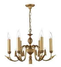 classic 6 light antique gold fitting
