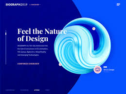 Visual Design Conferences 2019 Computer Graphics Conference Website Design Experiment