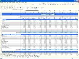 Personal Household Budget Simple Budget Spreadsheet Excel Thevidme Club