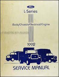 1992 ford l series foldout wiring diagram l8000 l9000 lt8000 1992 ford l series truck 7000 9000 repair shop manual original 149 00
