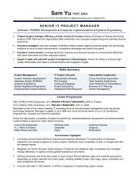 Project Management Resume Example Project Manager Resume Sample Complete Guide Example 5