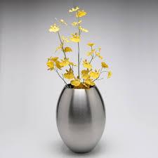 modern simple stainless steel egg shape flower vase decorative household metal jar art and craft ornament simple flower vase l13