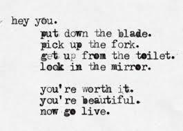 Beautiful Depression Quotes Best of Mine Depression Inspiration Eating Disorder Self Harm Typewriter