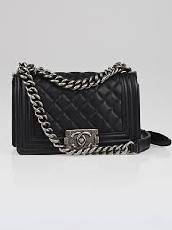 Chanel Black Quilted Leather Small Boy Flap Bag - Yoogi's Closet & Chanel Black Quilted Leather Small Boy Flap Bag Adamdwight.com