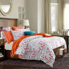 contemporary duvet covers and sets orange white bedding reversible orange and white bedding
