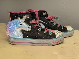Skechers Light Up Unicorn Shoes Girls Skechers Twinkle Toes Light Up Unicorn High Top Shoes Sneakers Size 2