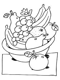 Kleurplaat Fruitmand Knutselpaginanl Knutselen Knutselen En