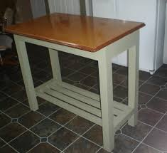 Enamel Top Cabinet Kitchen Island Genius Idea Upcycle A Vintage Metal Table Top As A