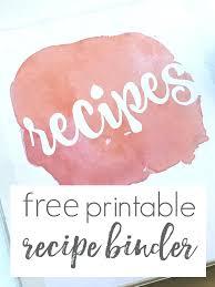 Cookbook Cover Template Printable Recipe Book Free Binder Templates