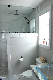 interior pony wall height shower with two panels conventional modest 9 pony wall shower