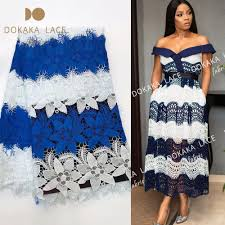 Lace African Dresses Design 2018 Us 48 96 49 Off Two Color Design Printing Milk Lace Fabric 2018 High Quality Soft Style African Nigerian Party Dresses Prints Guipure Material In
