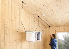 this hanging clothes drying rack can be