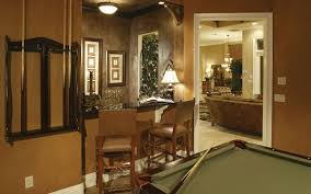 cozy and secluded billiards room