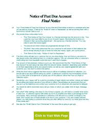 Delinquent Account Letter Template 23 Printable Past Due Reminder Letter Forms And Templates