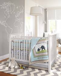 Vibrant Remarkable Traditional Yellow And Grey Baby Nursery Room Ideas  Neutral Gender Completed With Tall White Stand Lamp Patterns Shapped World  Map