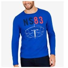 Nautica Mens 83 Cover Yacht Club Logo T Shirt Long Nwt