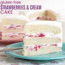 Gluten Free Cake With Strawberries And Cream Cupcakes Kale Chips