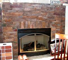 basic trim around a stone veneer fireplace