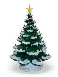 Lighted Ceramic Christmas Tree Mid Century Lighted Ceramic Wall Ceramic Tabletop Christmas Tree With Lights