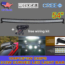 ford f53 car truck fog driving lights cree 54inch 520w led curved work light bar combo waterproof offroad 4wd wiring fits ford f53