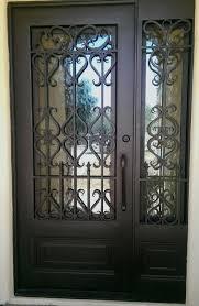 Exterior Door With Sidelight  Kelli Arena - Iron exterior door