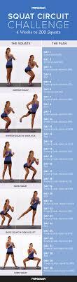 7 Day Squat Challenge Chart Printable Squat Challenge Popsugar Fitness