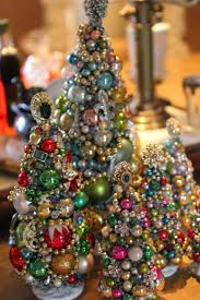 Miniature Trees made from old jewelry, mini ornaments, &