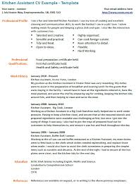 Porter Resume Amazing Kitchen Assistant Cv Bino48terrainsco
