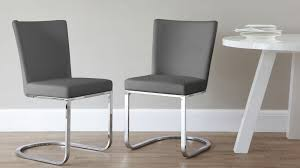 gray faux leather dining chairs. dark grey cantilever dining chairs gray faux leather l