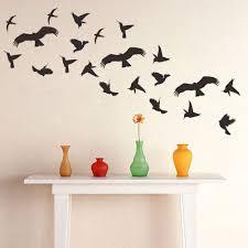 Wandsticker4u 21 Vögel Zum Aufkleben In Schwarz Vogelschutz Für