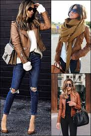 winters tan leather jacket outfit ideas