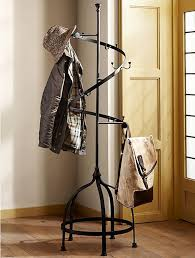Wrought Iron Standing Coat Rack 100 Best Antique Coat Tree Rack Images On Pinterest Coat Tree Within 23