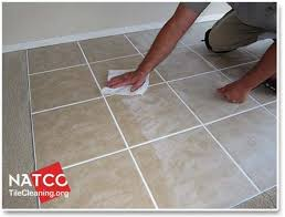 removing grout haze with cheese cloth
