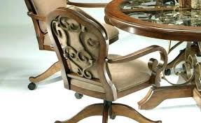 caster dining chairs dining chair with caster chairs with rollers kitchen gallery tilt swivel dining chair