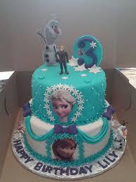 Disney Frozen Birthday Cakes 2 Tier Elsa And Anna Frozen Themed