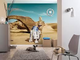 wall mural star wars lost droids from komar inspiration of star wars wall