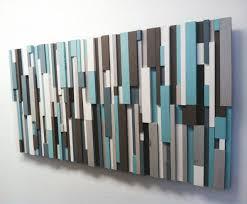 modern wood art cottage chic wood strip artwork cooling strips
