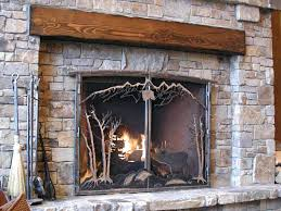 fireplace cover screen custom screens and plus enclosures glass doors wood burning diy fireplace cover screen chill out draft eliminator diy