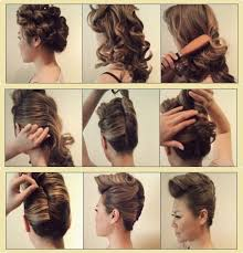 Hairstyle Yourself simple diy braided bun & puff hairstyles pictorial tutorial for 4258 by stevesalt.us