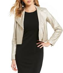 jackets womens armani exchange metallic faux leather moto jacket gold gift to live